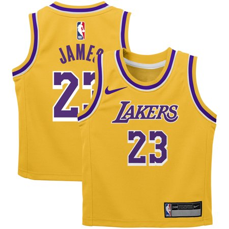 online store aff7c d5d34 LeBron James Los Angeles Lakers Nike Infant Icon Replica Jersey - Gold