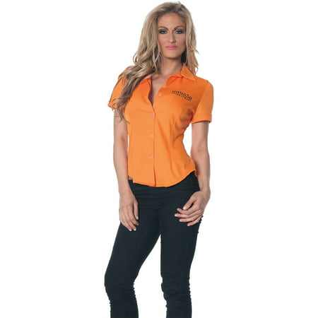 Prisoner Shirt Adult Halloween Costume](Prisoner Dress)
