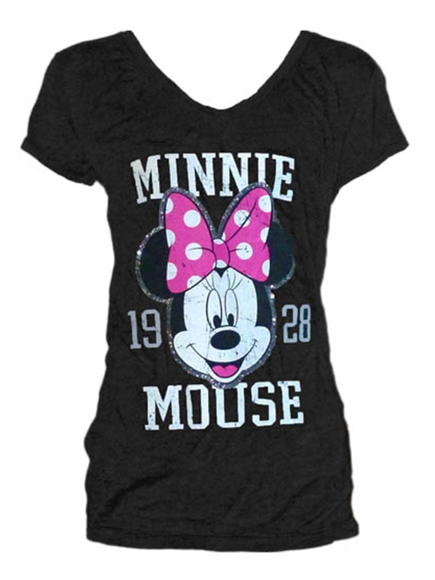 Disney Women's Minnie Mouse Head 1928 Medium Fashion Tshirt