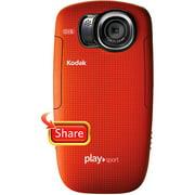 Refurbished Kodak PlaySport Zx5 (8357428) 128 MB Camcorder - Red
