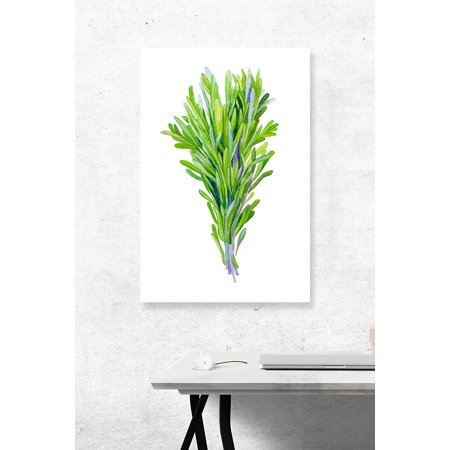 Rosemary Herbs Art Watercolor Home Decor Plastic Large Wall Signs, (Rosemary Walls Art)