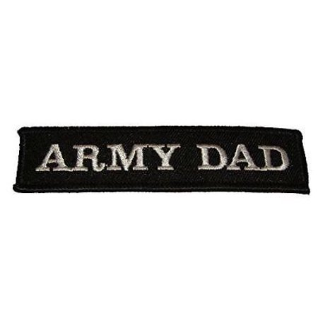 ARMY DAD NAME TAPE STYLE PATCH PROUD PARENT FATHER STEP SUPPORT THE TROOPS