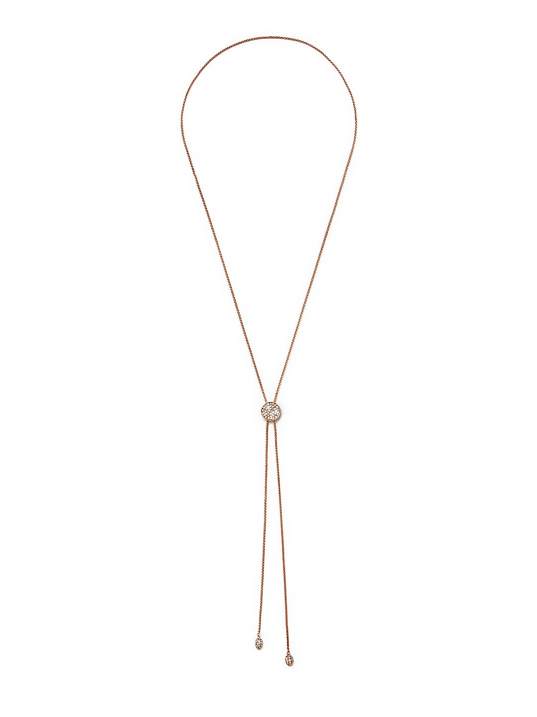 Crystal Mini Lariat Necklace