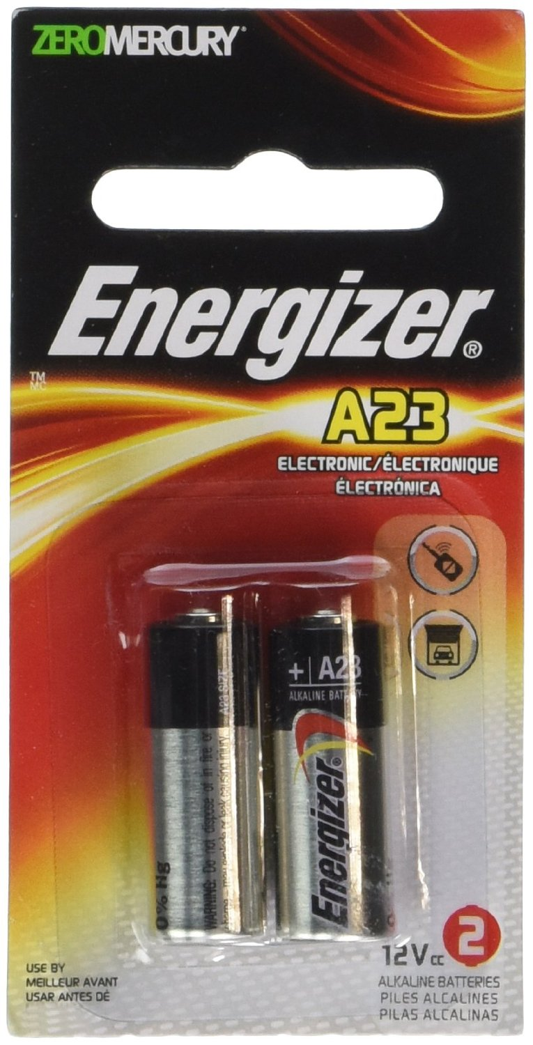Energizer A23 12V Batteries 4 Packs of 2 = 8 batteries (A23BPZ-2) by