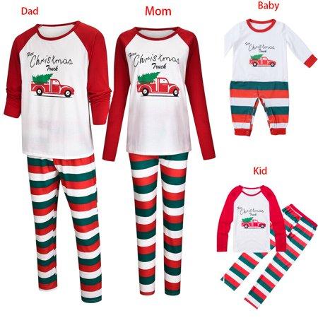 XIAXAIXU Christmas Family Matching Pajamas Set Adult Men Kid Sleepwear Xmas Nightwear PJS ()
