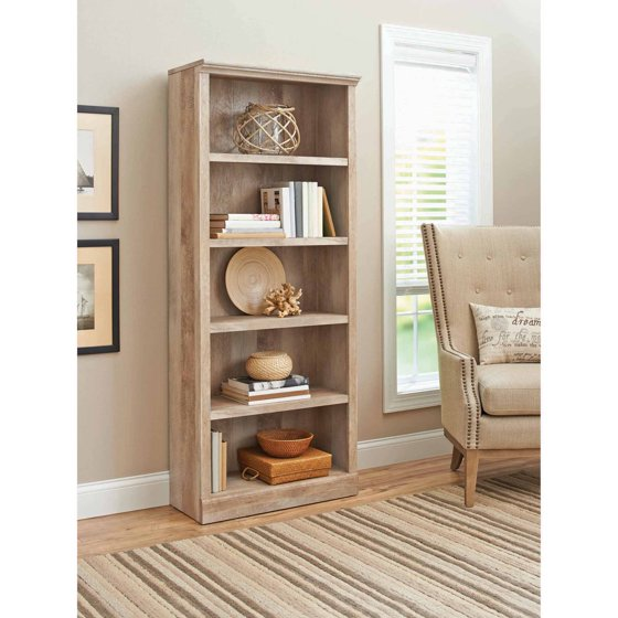 Better Homes And Gardens Crossmill 5 Shelf Bookcase Multiple Finishes