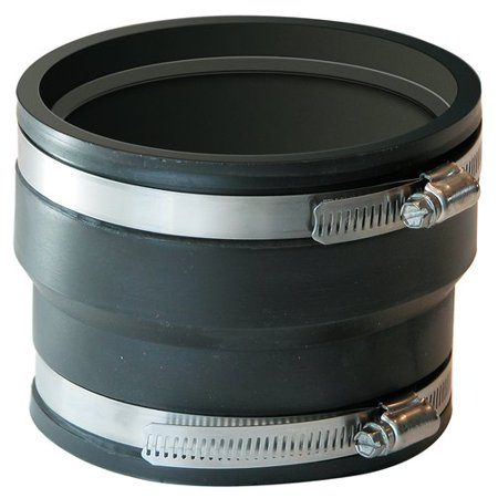 FERNCO 1070-44 Flex Corrugated Coupling,Pipe Size - Corrugated Pipe Fittings
