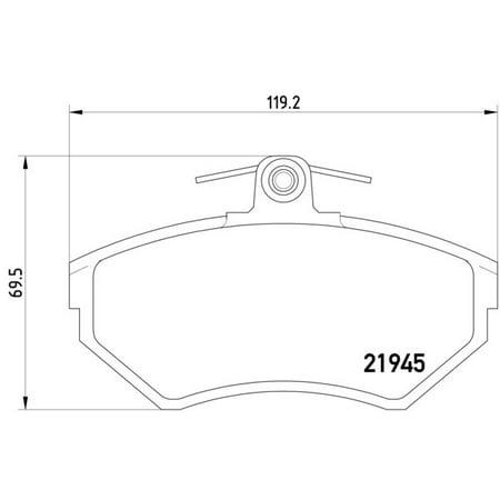 Pagid 355018241 Disc Brake Pad Set for Volkswagen Cabrio
