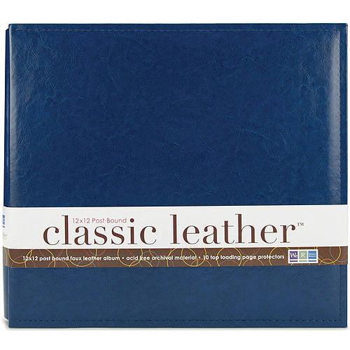 """We R Classic Leather Postbound Album, 12"""" x 12"""""""