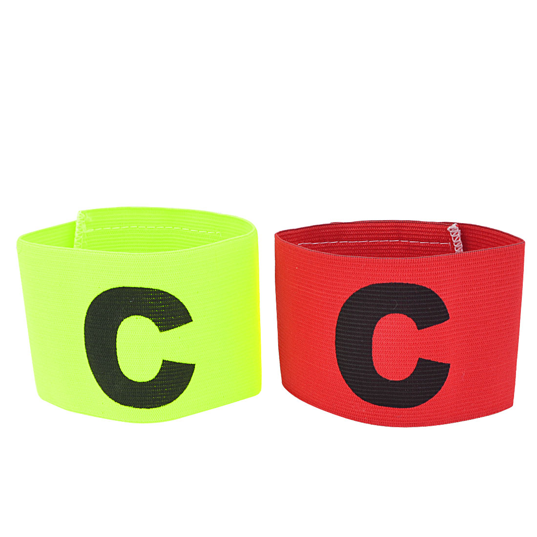 Unique Bargains Letter C Printed Stretchy Soccer Football Captain Armband Yellow Green Red... by