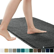 Subrtex Luxury Chenille Bathroom Rug Extra Soft and Absorbent Shaggy Rugs (Eight Colors, 3 Sizes)
