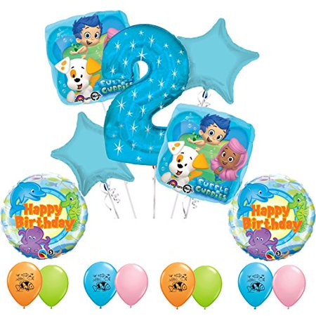Bubble Guppies Party Supplies 2nd Birthday Party Balloon Decoration Kit](Bubble Guppies Decorations)