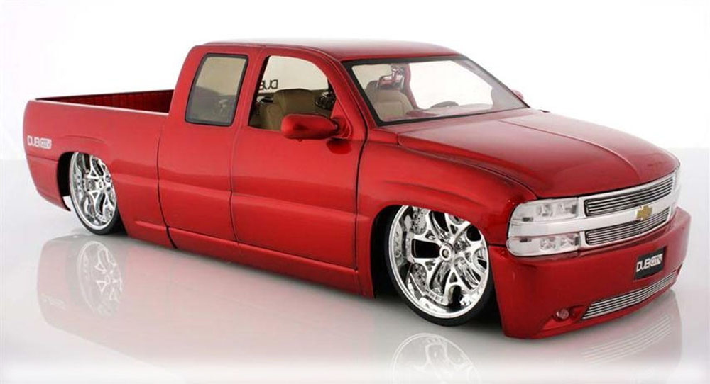 Chevy Silverado Pickup Truck, Red Jada Toys Dub City 63112 1 18 scale Diecast Model Toy... by Jada