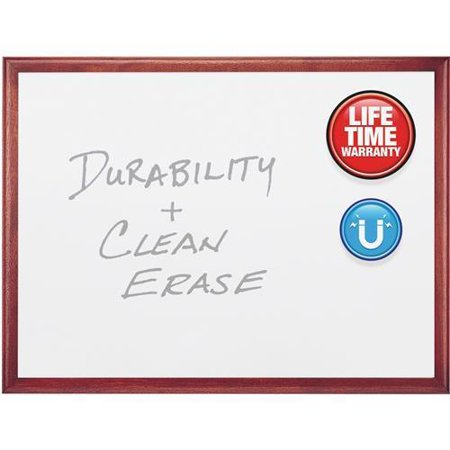 2547M Quartet Mahogany Frame Dry-Erase Marker Board - 72
