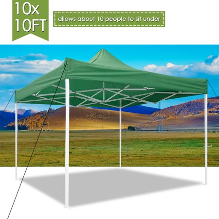 Canopy Green (Yescom 10x10' EZ Pop Up Canopy Tent 420D Waterproof Instant Shelter Outdoor Party w/ Carry Bag Green )