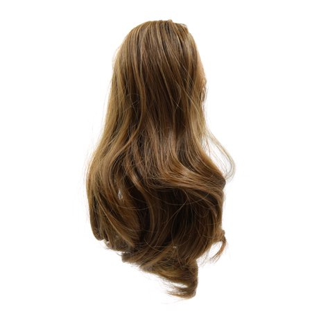 (Synthetic Drawstring Wavy Curly Ponytail Hairpiece for Women #3)