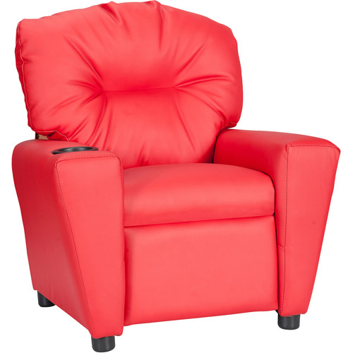 Charming Flash Furniture Kidsu0027 Vinyl Recliner With Cup Holder, Multiple Colors