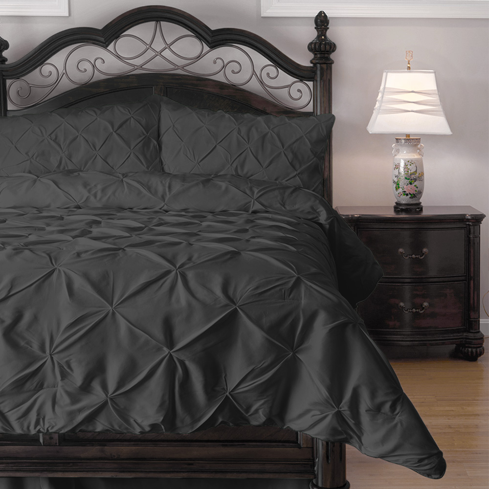Regency Cozy Beddings - Emerson Pinch Pleat 3-Piece Comfo...