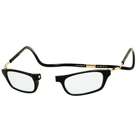 CliC Expandable Reading Glasses, - Black Circle Glasses