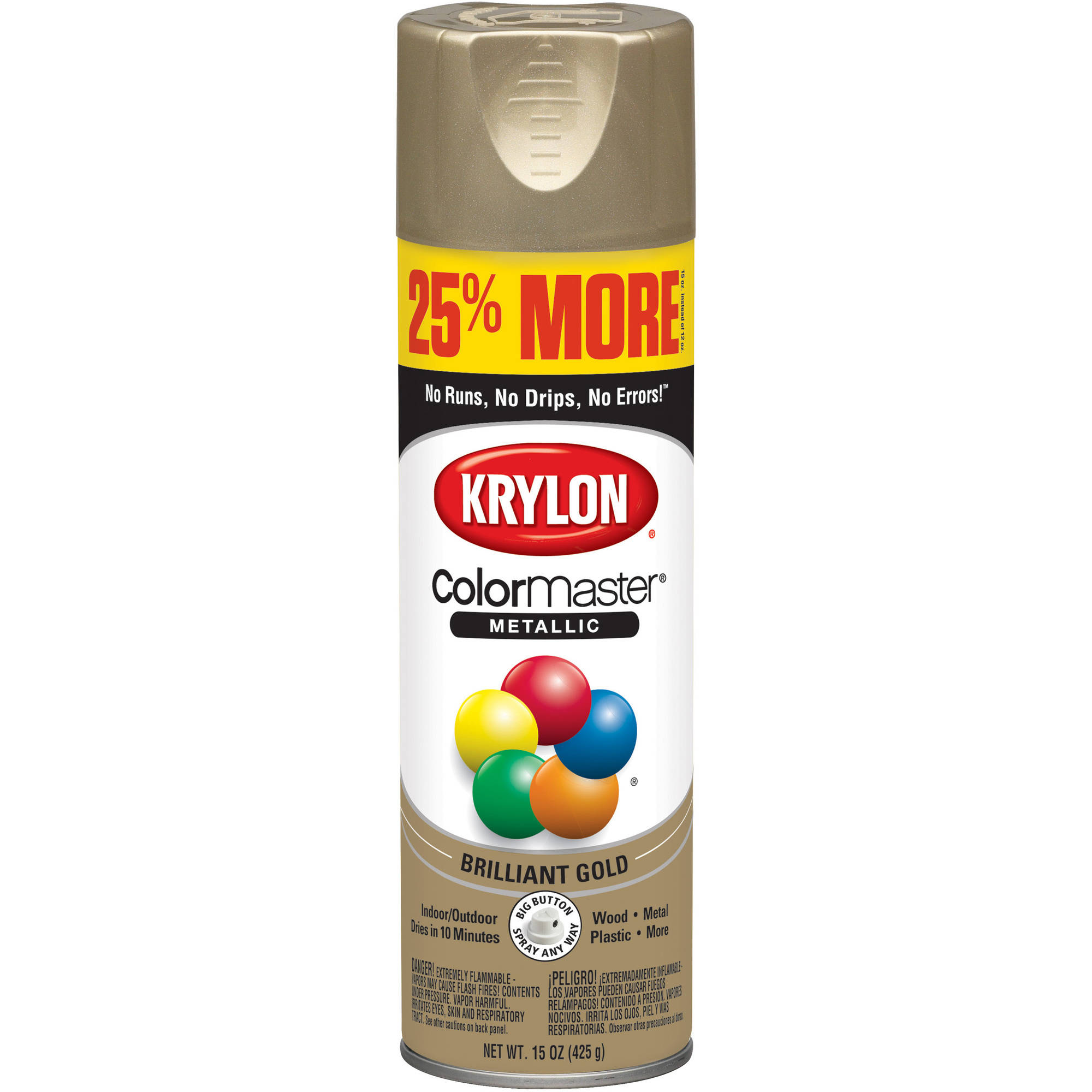 Painting miniatures color master primer - Krylon Colormaster Paint Primer Metallic Gold
