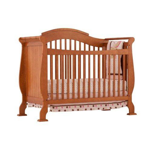 Storkcraft Valentia Fixed Side Convertible Crib in Oak