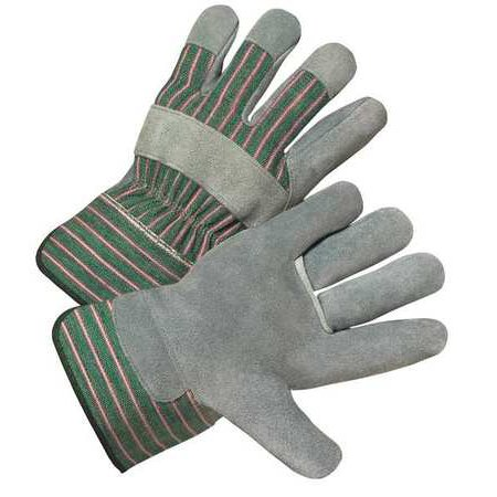West Chester Glove 500RHO-EA Right Hand Leather Palm Glove, Green/Pink