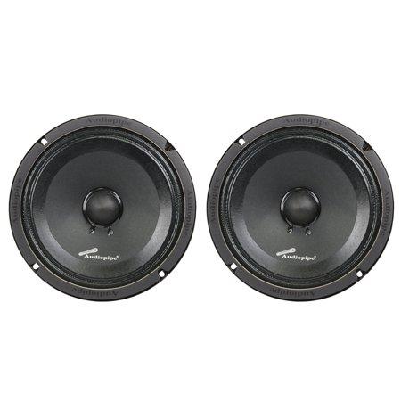 2) Audiopipe APMB-8SB-C 8 Inch 250W Low Mid Frequency Midwoofer Car Loudspeakers
