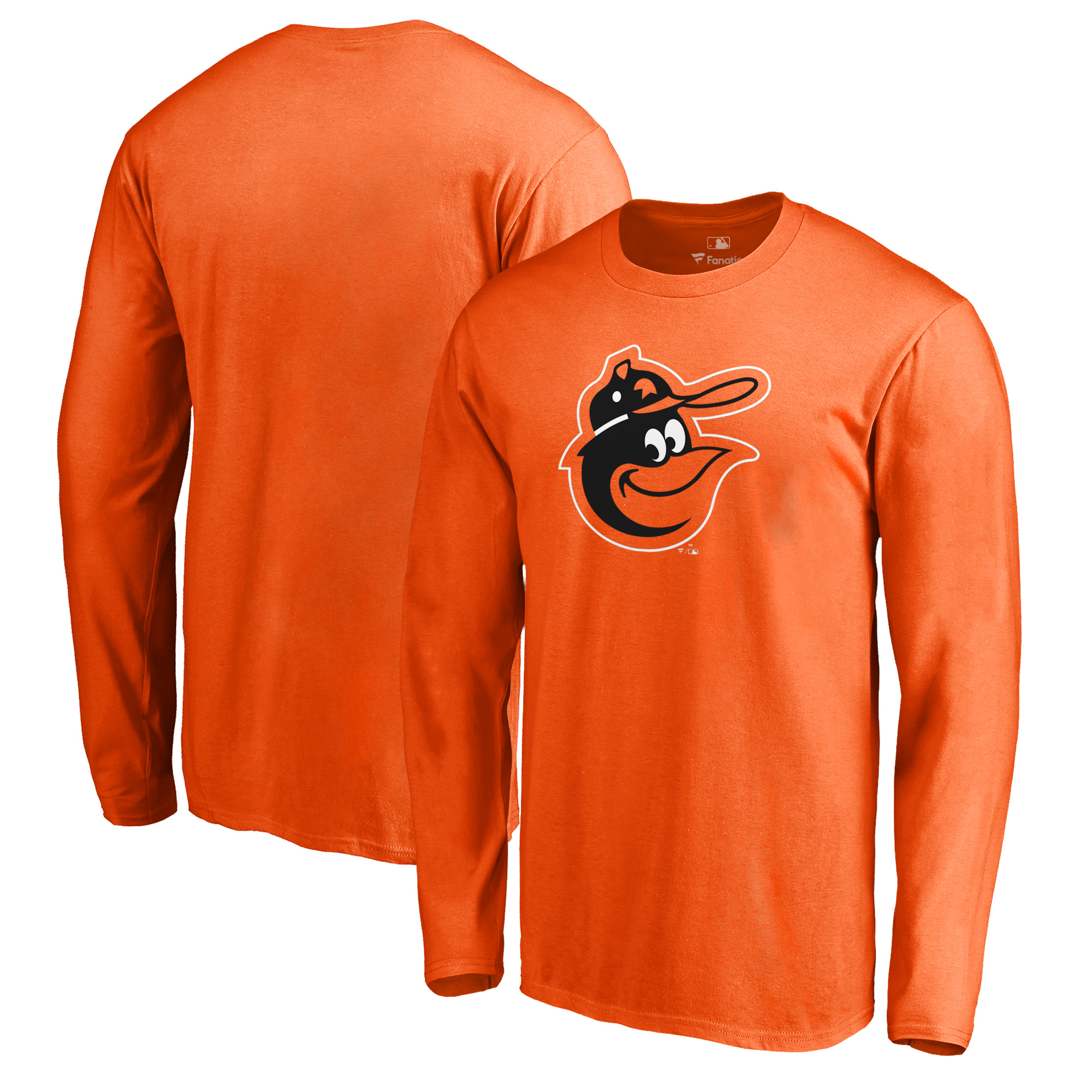 Baltimore Orioles Fanatics Branded Cooperstown Collection Huntington Long Sleeve T-Shirt - Orange