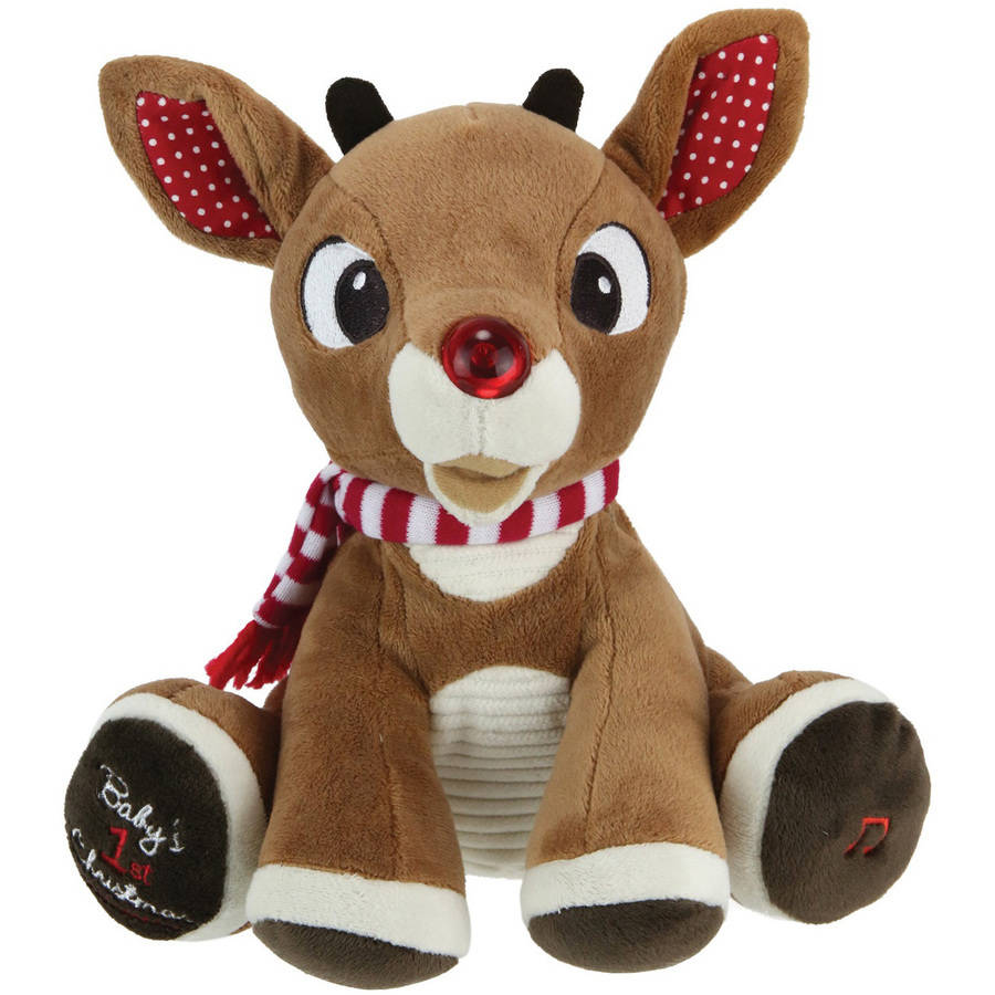 """Rudolph with Light Up Nose And Music (8"""")"""