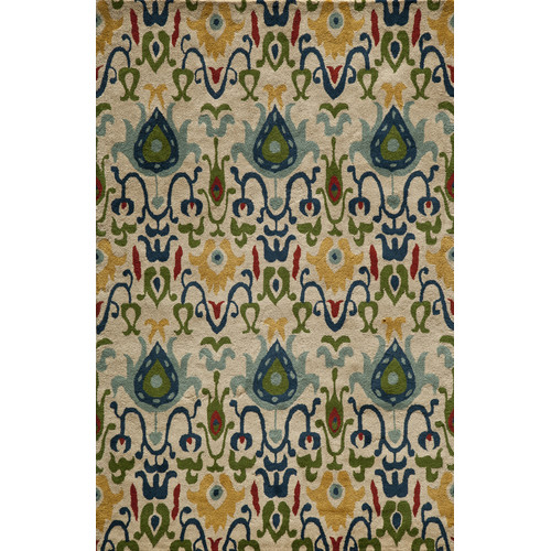 Hand Tufted Area Rug in Ivory (3 ft.  L x 2 ft. W)