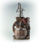 "Alpine Corporation 24"" Outdoor 3-Tier Old-Fashioned Pump Fountain"