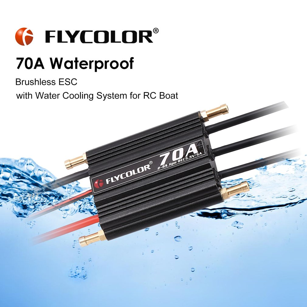 Flycolor 2 6s 70a Waterproof Brushless Esc 55v 5a Bec For Rc Boat Ship Wiring