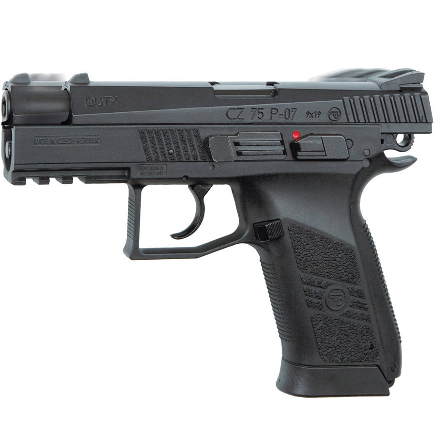 ASG CZ 75 P-07 Duty Airgun, Black with Blowback