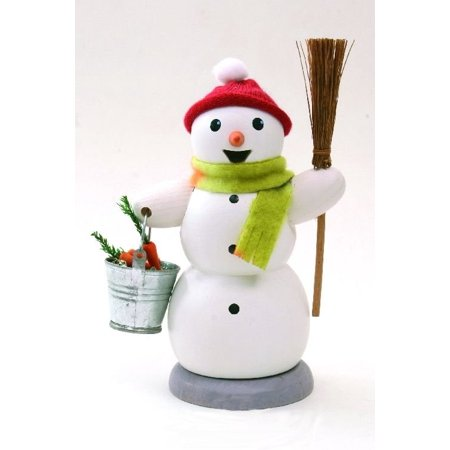 - Snowman with Bucket German Christmas Incense Smoker Made in Germany New Burner