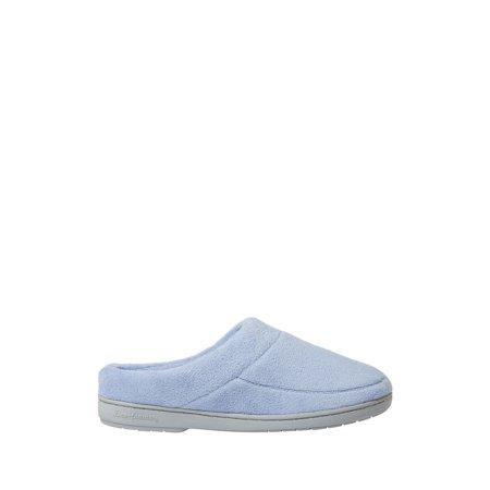 Dearfoams Womens Elaine Microfiber Terry Moc Toe Clog slippers