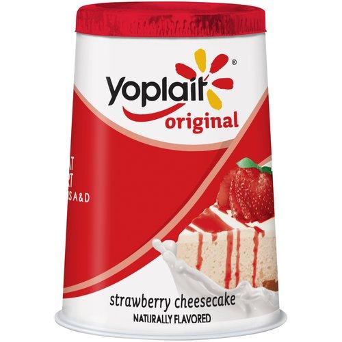 Yoplait? Original Strawberry Cheesecake Flavored Low Fat Yogurt 6 oz. Cup