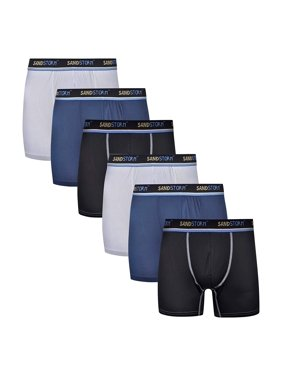 Product Image Sand Storm Mens Performance Boxer Briefs - 6-Pack No-Fly  Athletic Fit Tagless 409f86ea5f8