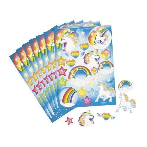 Unicorn Party Sticker Sheets 1 dozen
