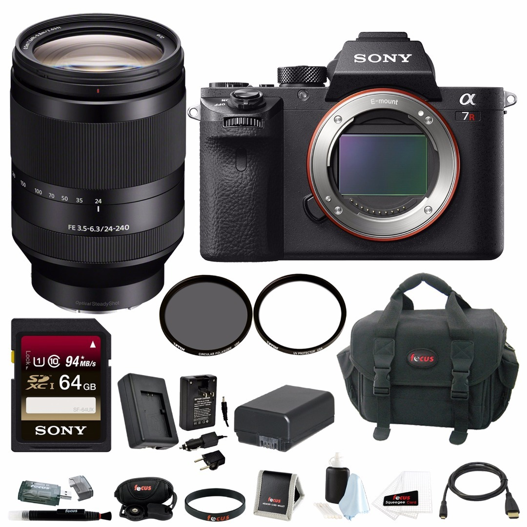 Sony Alpha a7RII Mirrorless Camera (Body Only) w/ 24-240mm f/3.5-6.3 OSS Lens Bundle