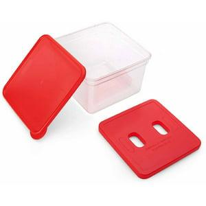 Kizmos Get Happy Red Compact Food Storage Sandwich Box