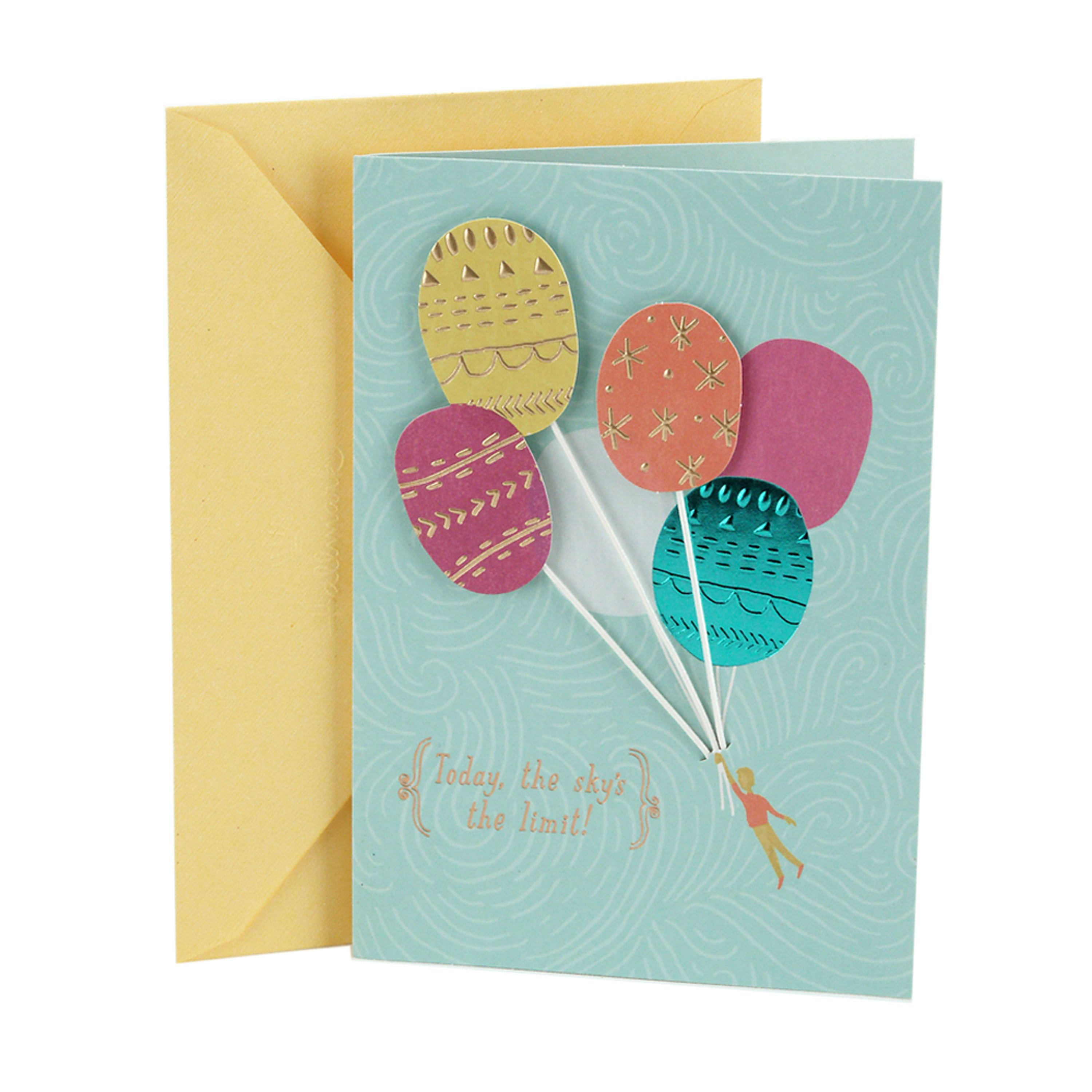 Hallmark Birthday Greeting Card (Balloons)