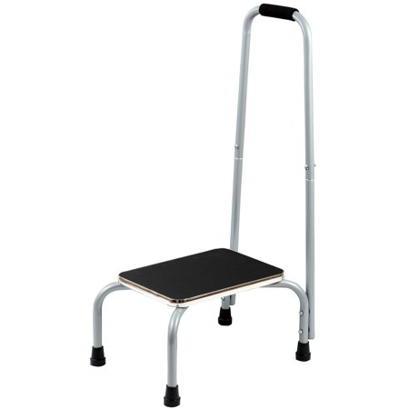 Bundaloo Support Step Stool | Best Foot Stool for Hospital Bed, Kitchen Shelving, & Bath Tub | Non-Slip Rubber Handle, Platform, & Feet for Extra Safety | For Adults & Kids in Home or Medical
