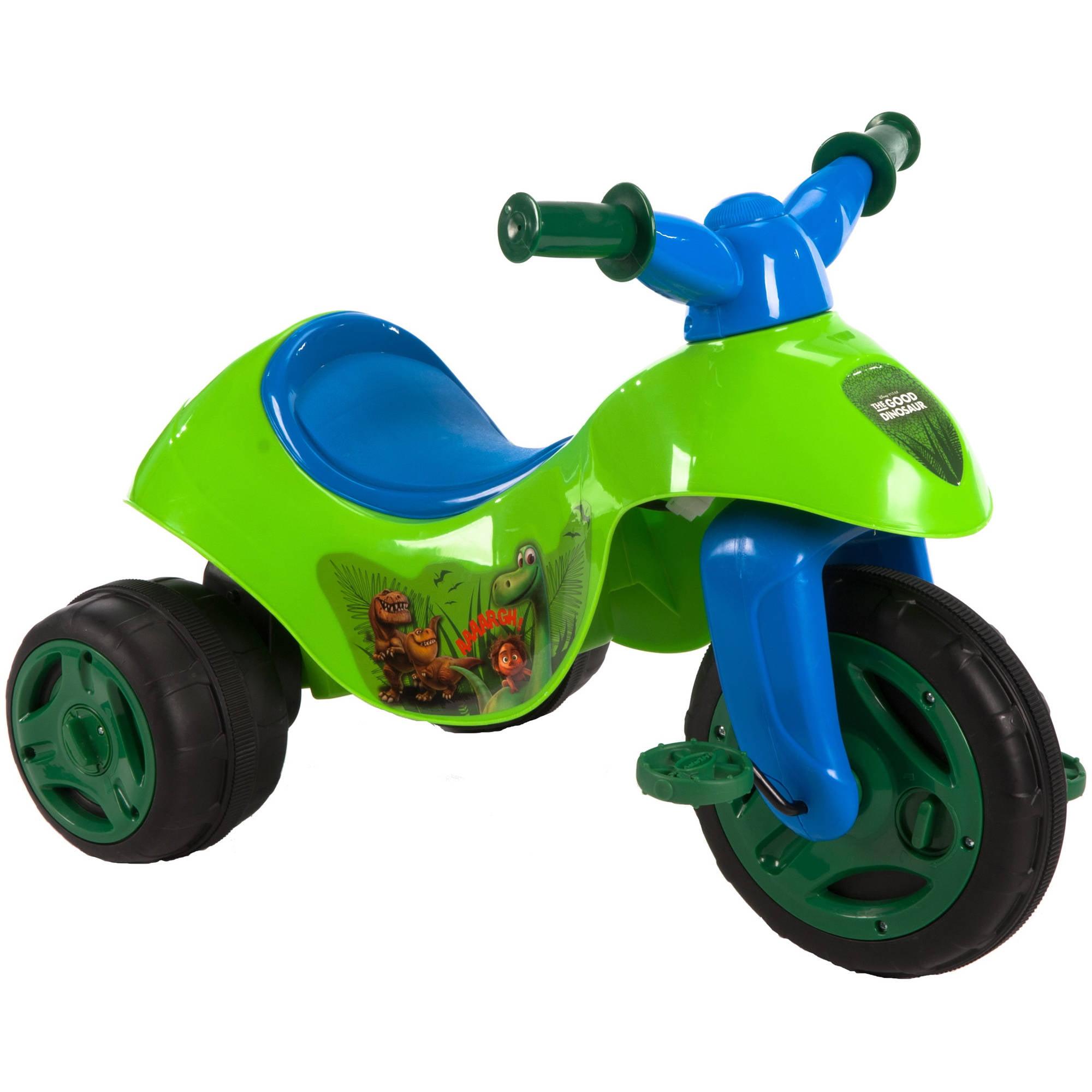 Huffy Disney The Good Dinosaur 6V Dual Power Tricycle Walmart