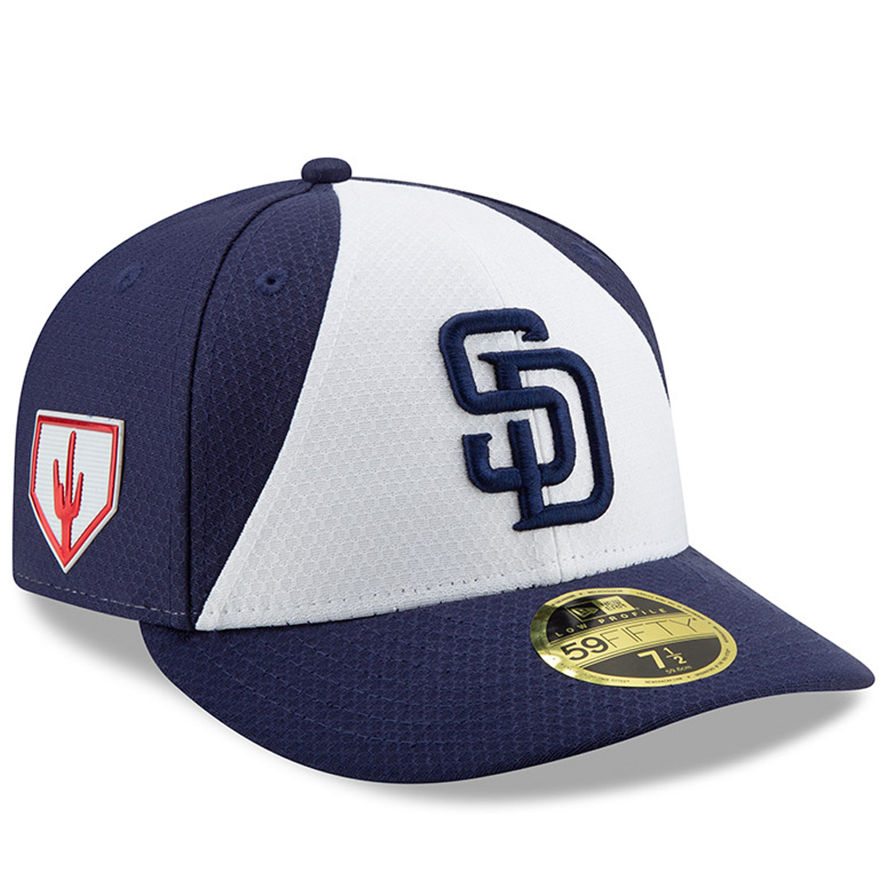 San Diego Padres New Era 2019 Spring Training Low Profile 59FIFTY Fitted Hat - White/Blue