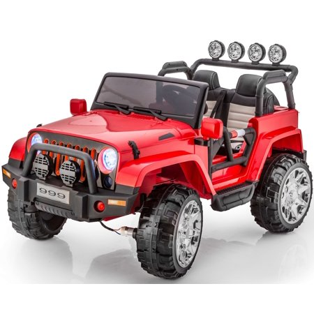 2 Seats Premium Real 4x4 Jeep Wrangler Style 12v Ride On Toy Car