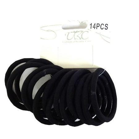 New 824034  Elastic Hair Rubber Bands 14Pc (12-Pack) Accessories Cheap Wholesale Discount Bulk Apparel Accessories Cup (Wholesale Scrunchies)
