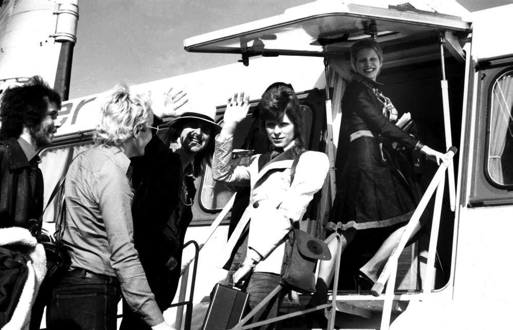 Superb David And Angie Bowie Boarding A Ferry In Callais Photo Print
