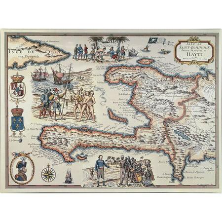 Trademark Art 'Map of the Island of Haiti, 1789' Canvas Art