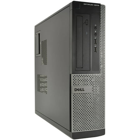 Refurbished Dell OptiPlex 3010-D Desktop PC with Intel Core i3-3240 Processor, 4GB Memory, 250GB Hard Drive and Windows 10 Pro (Monitor Not Included)