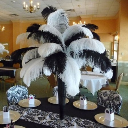 Zimtown 20 PCS Wholesale Quality Natural OSTRICH FEATHERS
